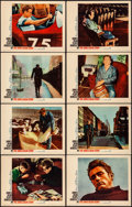 """Movie Posters:Documentary, The James Dean Story (Warner Brothers, 1957). Overall: Very Fine-. Lobby Card Set of 8 (11"""" X 14""""). Documentary.. ... (Total: 8 Items)"""