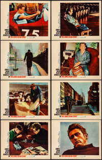 """The James Dean Story (Warner Brothers, 1957). Overall: Very Fine-. Lobby Card Set of 8 (11"""" X 14""""). Documentar..."""