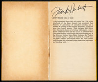 """Dune Messiah & Other Lot (Berkley Medallion, 1970). Very Fine-. Autographed Paperback Book (256 Pages, 4.25""""..."""