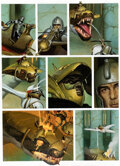 Original Comic Art:Panel Pages, Vicente Segrelles Le Mercenaire « La Evidencia » Planche 3(CIMOC #100, 1989)....