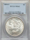 Morgan Dollars: , 1894-S $1 MS63 PCGS. PCGS Population: (1287/1140). NGC Census: (587/446). CDN: $1,175 Whsle. Bid for problem-free NGC/PCGS ...