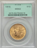 Indian Eagles: , 1915 $10 MS62 PCGS. PCGS Population: (1532/1094). NGC Census: (1297/863). CDN: $775 Whsle. Bid for problem-free NGC/PCGS MS...