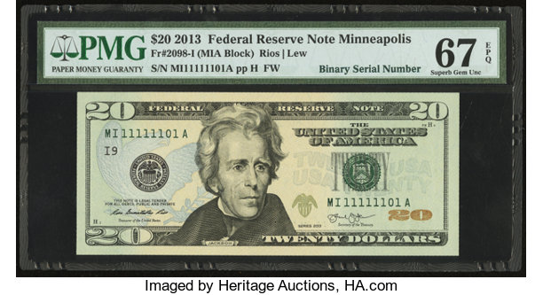 All Of The Live Forever | 20 Dollar Bill Serial Number