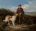 Paintings:Antique  (Pre 1900), Heywood Hardy (British, 1842-1933). The messenger, 1859. Oil on panel. 11-3/4 x 14 inches (29.8 x 35.6 cm). Signed and d...