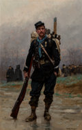 Paintings:Antique  (Pre 1900), Jean Baptiste Edouard Detaille (French, 1848-1912). A French infantryman from the Franco-Prussian War; A line engineer fro... (Total: 2 Items)
