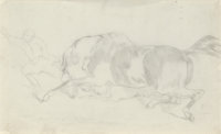 Edgar Degas (French, 1834-1917) Etude de cheval Pencil on paper 5-1/2 x 8-1/2 inches (14.0 x 21.6