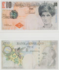 Collectible:Contemporary, Banksy X Banksy of England. Di-Faced Tenner, 10 GBP Note (two works), 2005. Offset lithograph in colors on paper. 3 x 5-...