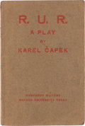 Books:First Editions, Karel Capek. R.U.R. London: 1923. First edition in English....