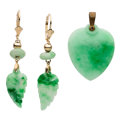 Estate Jewelry:Lots, Jadeite Jade, Gold, Yellow Metal Jewelry  The ...