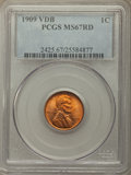 1909 1C VDB MS67 Red PCGS. PCGS Population: (307/2). NGC Census: (89/1). CDN: $900 Whsle. Bid for problem-free NGC/PCGS...