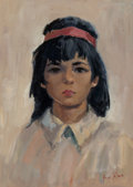 Paintings:Contemporary   (1950 to present), Fred T. Tuch (American, 20th century). Portrait of a Young Girl. Oil on canvas. 17-3/4 x 12-3/4 inches (45.1 x 32.4 cm)...