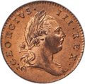 Colonials, 1773 1/2 P Virginia Halfpenny, Period, MS65 Red PCGS. N. 25-M,W-1580, R.2....