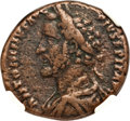 Ancients:Roman Imperial, Ancients: Antoninus Pius (AD 138-161). AE as (26mm, 9.98 gm, 1h).NGC VF 4/5 - 3/5....