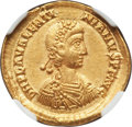 Ancients:Roman Imperial, Ancients: Valentinian III, Western Roman Empire (AD 425-455). AVsolidus (21mm, 4.43 gm, 6h). NGC AU★ 5/5 - 4/5. ...