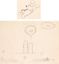 Animation Art:Production Drawing, Steamboat Willie Mickey Mouse and Boat Animation DrawingsGroup of 2 (Walt Disney, 1928).... (Total: 2 Original Art)