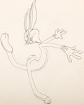 Animation Art:Production Drawing, A Corny Concerto Bugs Bunny Animation Drawing (Warner Brothers, 1943)....