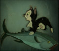 Animation Art:Production Cel, Pinocchio Figaro and Fish Production Cel Courvoisier Setup (Walt Disney, 1940)....