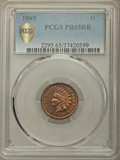 Proof Indian Cents, 1869 1C PR65 Red and Brown PCGS. PCGS Population: (46/13 and 0/2+). NGC Census: (37/6 and 1/1+). CDN: $1,200 Whsle. Bid for...