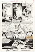 Original Comic Art:Panel Pages, Mike Zeck and John Beatty Captain America Annual #8 Story Page 10 Original Art (Marvel, 1986)....