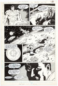 Original Comic Art:Panel Pages, Mike Mignola and Karl Kesel Superman #18 Story Page 6 Original Art (DC, 1988)....