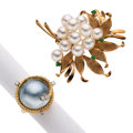 Estate Jewelry:Lots, Mabe Pearl, Cultured Pearl, Diamond, Jadeite Jade, Gold Jewelry....
