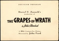 Movie Posters:Drama, The Grapes of Wrath (20th Century Fox, 1940). Very Fine+.