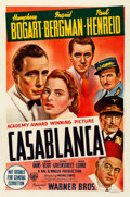 "Movie Posters:Academy Award Winners, Casablanca (Warner Brothers, 1944). Fine+ on Linen. Australian OneSheet (26.5"" X 40.5"").. ..."