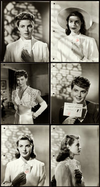 "Casablanca (Warner Brothers, 1942). Very Fine. Hair and Makeup Keybook Photos (12) (7.5"" X 9.5""). From the per..."