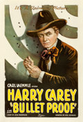 """Movie Posters:Western, Bullet Proof (Universal, 1920). Good/Very Good on Linen. One Sheet (27.5"""" X 40"""").. ..."""