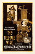 "Movie Posters:Western, The Tell-Tale Wire (Universal, 1919). Fine+ on Linen. One Sheet (28"" X 43.5"").. ..."