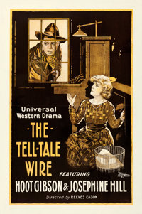 "The Tell-Tale Wire (Universal, 1919). Fine+ on Linen. One Sheet (28"" X 43.5"")"