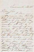 Autographs:Celebrities, John Wilkes Booth Autograph Letter Signed...