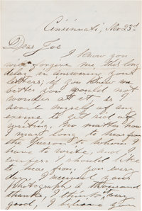 John Wilkes Booth Autograph Letter Signed