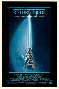 """Return of the Jedi (20th Century Fox, 1983). Rolled, Very Fine-. Poster (40"""" X 60"""") Style A, Tim Reamer Artwor..."""