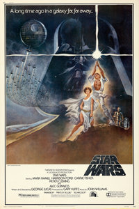 "Star Wars (20th Century Fox, 1977). Rolled, Fine/Very Fine. Poster (40"" X 60"") Style A, Tom Jung Artwork"
