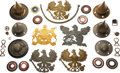 Militaria:Helmets, Large Lot of Imperial German Spiked Helmet Parts.. ...