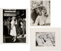 Movie/TV Memorabilia:Photos, Marilyn Monroe Black and White Photographs (3) - Joe DiMaggio, Clark Gable, and Seven Year Itch Subway Grate Photo...