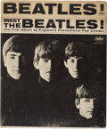 Music Memorabilia:Memorabilia, Beatles Sealed Meet the Beatles! Promotional LP Rack Divider (1964). ...