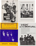 "Music Memorabilia:Memorabilia, The Beatles Souvenir Concert Programs - ""The Beatles Show"" and ""Brian Epstein Presents The Beatles Christmas Show"" (UK, 1963)...."