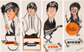 """Music Memorabilia:Posters, The Beatles Set of Gordon Currie """"Pin-up Screamers"""" Posters (1964).. ..."""