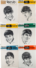 Music Memorabilia:Memorabilia, The Beatles Sealed Headshot Drawings (mid-1960s...