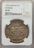 German States:Hamburg, German States: Hamburg. Free City 5 Mark 1904-J AU58 NGC,...