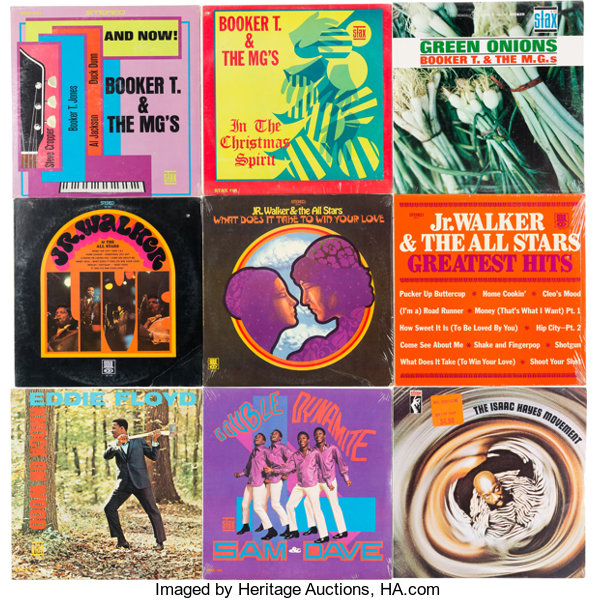 Booker T & The MG's/Jr Walker - Group of 9 Albums (circa | Lot