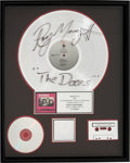 Music Memorabilia:Autographs and Signed Items, The Doors L.A. Woman RIAA Hologram Platinum Sales Award Signed by Ray Manzarek (Elektra, 1971). . ...