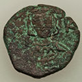 Ancients:Byzantine, Ancients: Constantine IV Pogonatus (AD 668-685). AE half follis (26mm, 6.98 gm, 7h). About VF. ...