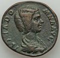 Ancients:Roman Imperial, Ancients: Julia Domna (AD 193-217). AE sestertius (30mm, 17.46 gm,11h). About VF. ...
