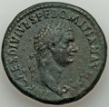 Ancients:Roman Imperial, Domitian, as Augustus (AD 81-96). AE sestertius (34mm, 25....