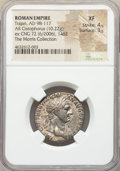 Ancients:Roman Imperial, Trajan (AD 98-117). AR cistophorus (10.22 gm, 7h). NGC XF ...