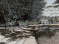 Fine Art - Painting, American, Will Hinds (American, 20th Century). Louisiana Country Road.Oil on Masonite. 15 x 20 inches (38.1 x 50.8 cm). Signed lo...