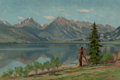 Paintings, Charles Partridge Adams (American, 1858-1942). Twin Lakes, Colorado, 1895. Oil on canvas. 16 x 24 inches (40.6 x 61.0 cm...